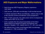 aed exposure and major malformations