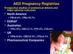 aed pregnancy registries