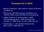 teratogenicity of aeds