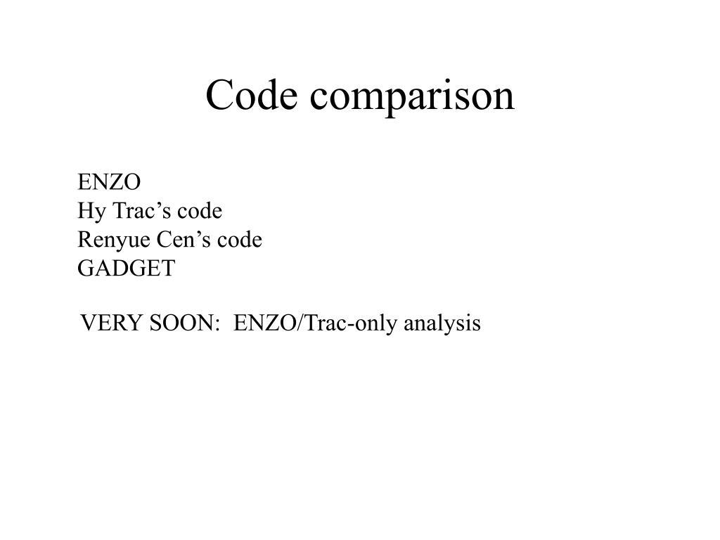 code comparison l.