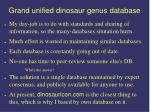 grand unified dinosaur genus database