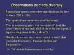 observations on clade diversity29