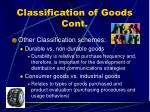 classification of goods cont1