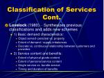 classification of services cont7