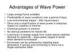 advantages of wave power