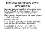 difficulties facing wave power developments1