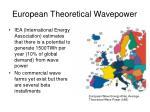 european theoretical wavepower