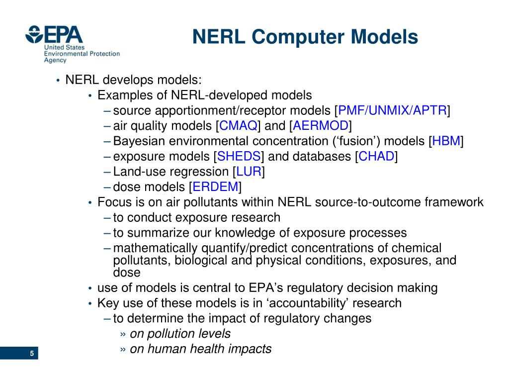 NERL Computer Models