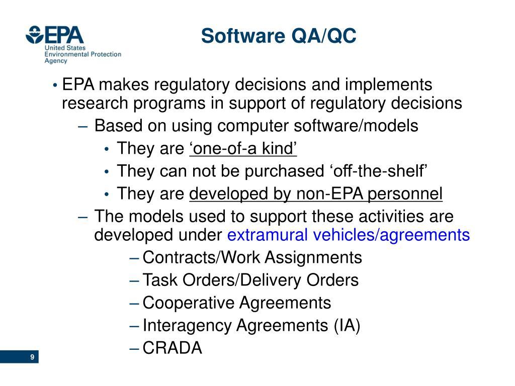 Software QA/QC