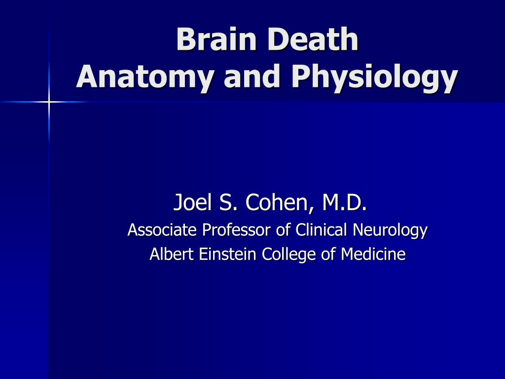 PPT - Brain Death Anatomy and Physiology PowerPoint
