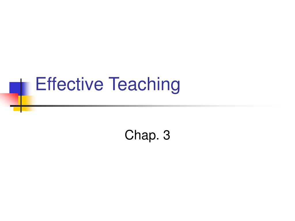 effective teaching l.