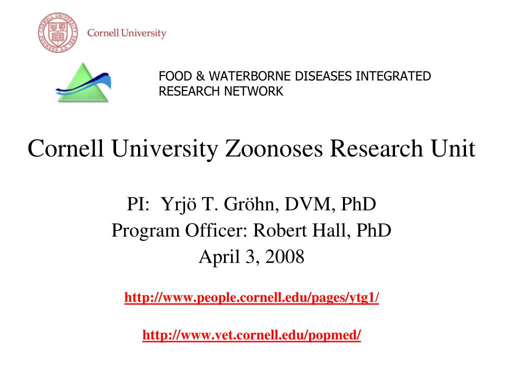 food waterborne diseases integrated research network l.