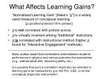 what affects learning gains