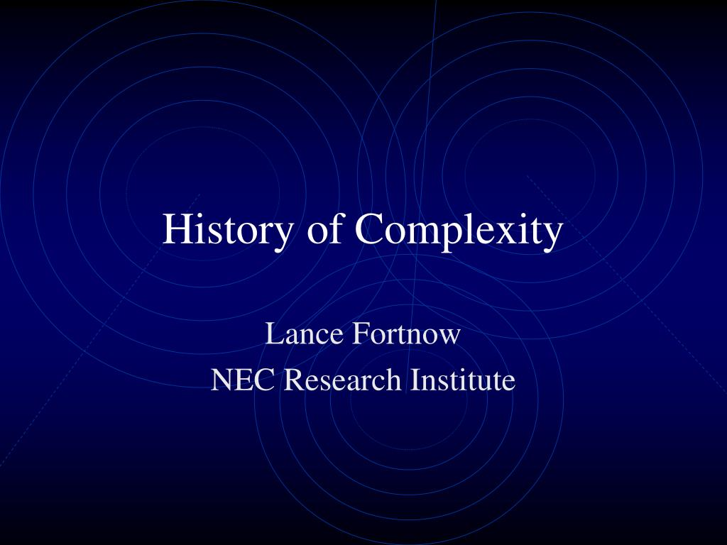 history of complexity l.