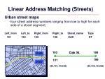 linear address matching streets