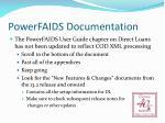 powerfaids documentation