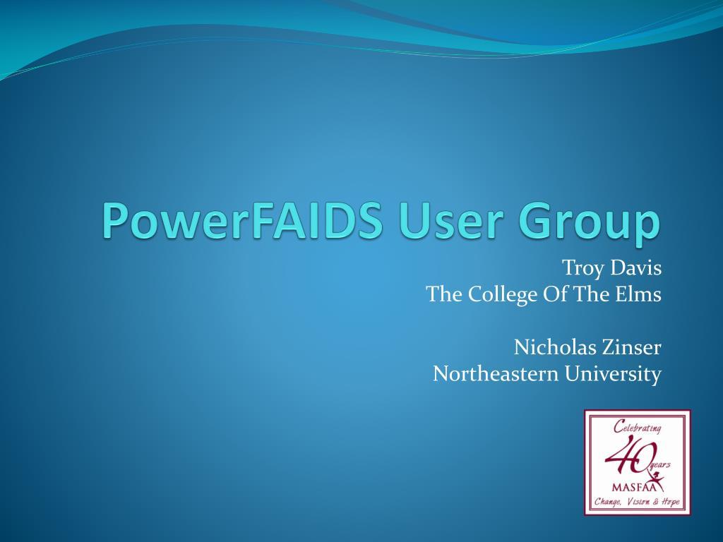 powerfaids user group l.