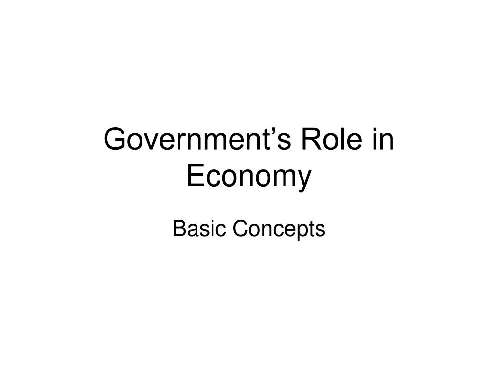 government s role in economy l.