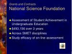 grants and contracts national science foundation