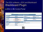 the edu software edu and blackboard blackboard plugin