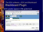 the edu software edu and blackboard blackboard plugin38