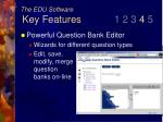 the edu software key features 1 2 3 4 523