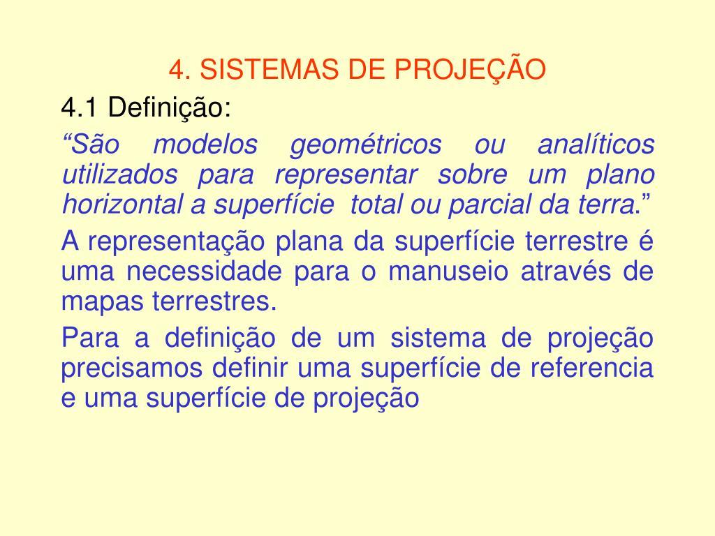 4 sistemas de proje o l.