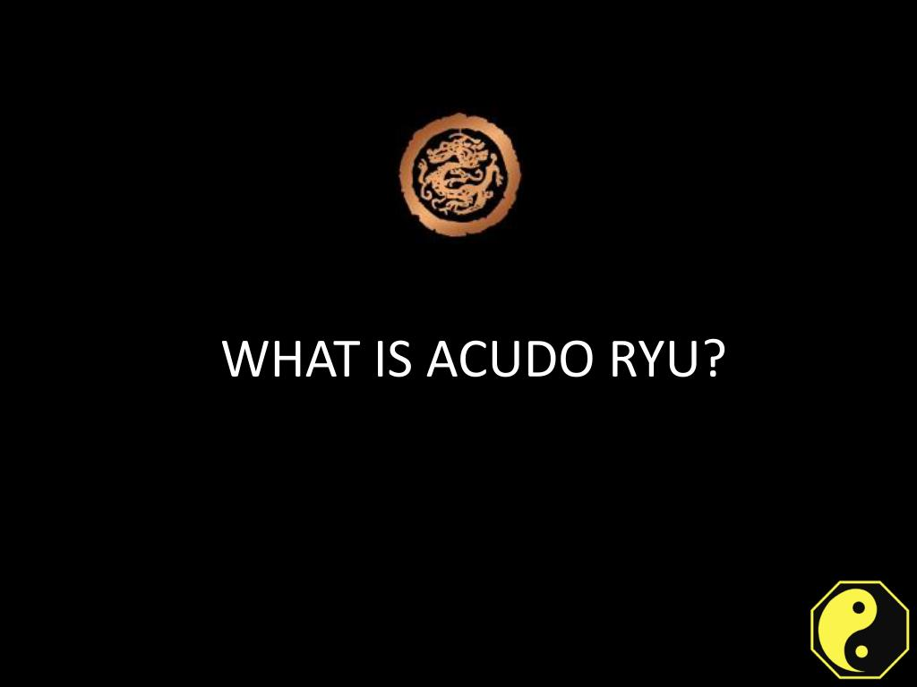 basis of acudo ryu l.