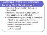 creating a profile of functional auditory skill development