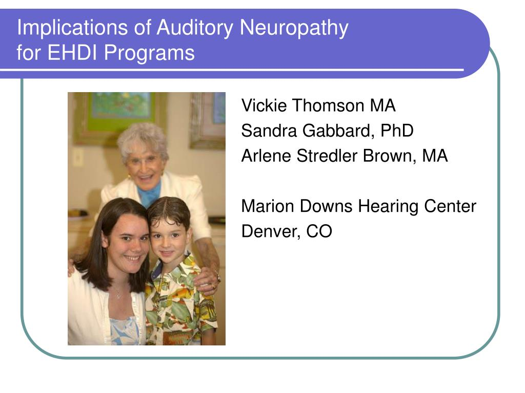 implications of auditory neuropathy for ehdi programs l.