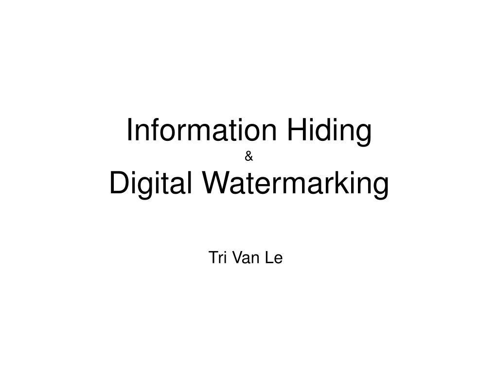 information hiding digital watermarking l.