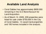 available land analysis