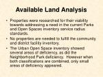 available land analysis18