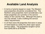 available land analysis23