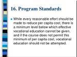 16 program standards