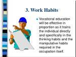 3 work habits