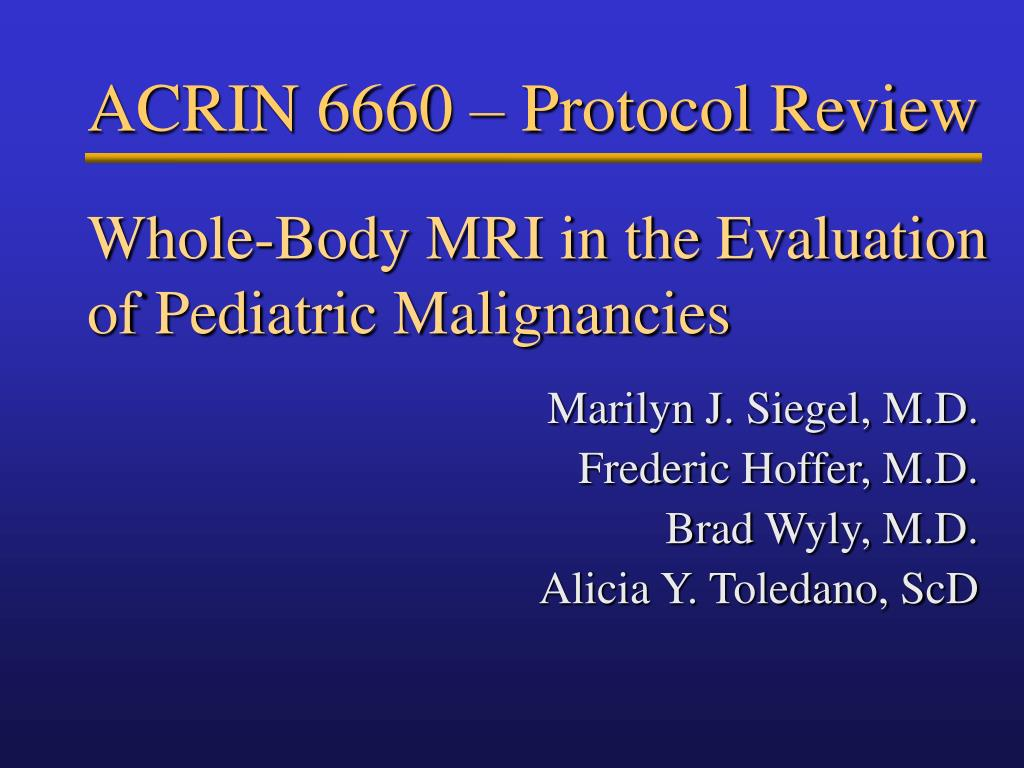 whole body mri in the evaluation of pediatric malignancies l.