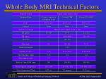 whole body mri technical factors