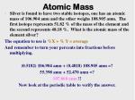 atomic mass7