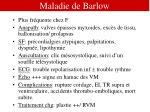 maladie de barlow
