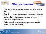 effective lessons