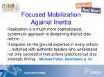 focused mobilization against inertia