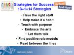 strategies for success 13 1 14 strategies