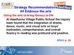 strategy recommendations 4 embrace the arts