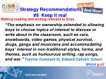 strategy recommendations 8 keep it real