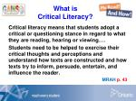 what is critical literacy