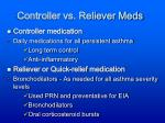 controller vs reliever meds