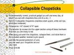 collapsible chopsticks