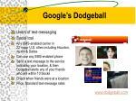 google s dodgeball