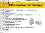 international ac travel adaptor